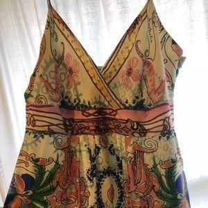 Stunning silk Anthropologie dress Med Petite 😍💫